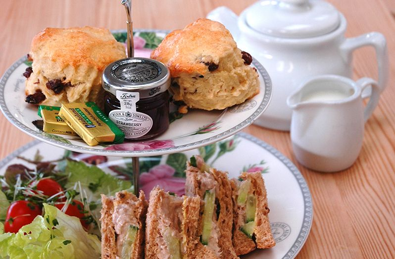 Tea Room high tea lunch sandwiches