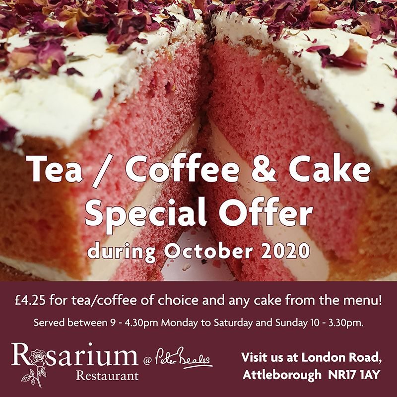 Tea/Coffee & Cake Special Offer