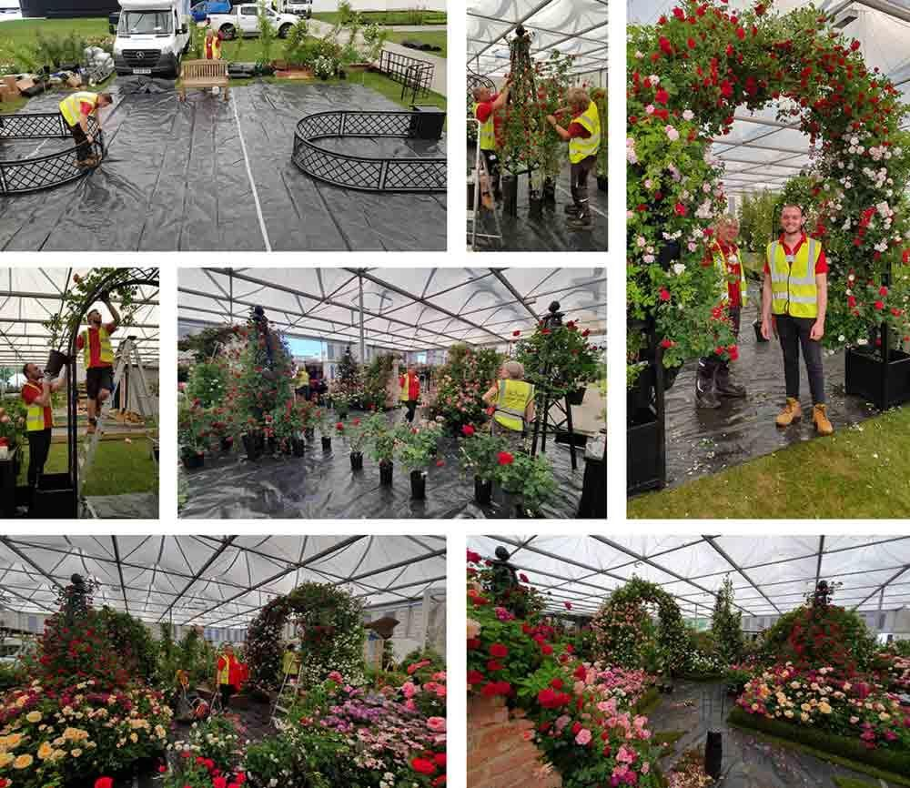 Chelsea Flower Show Build Up 2019