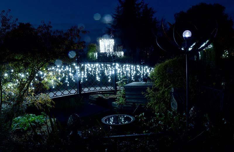 Christmas lights in the Garden